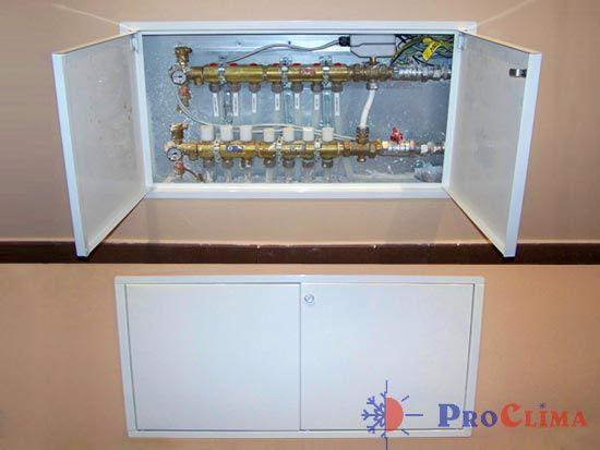 Armario colectores calefaccion hydraulic actuators for Precio instalacion suelo radiante